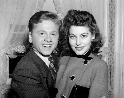 Mickey Rooney (21 ans) et Ava Gardner en 1941. (Photo: archives AP)