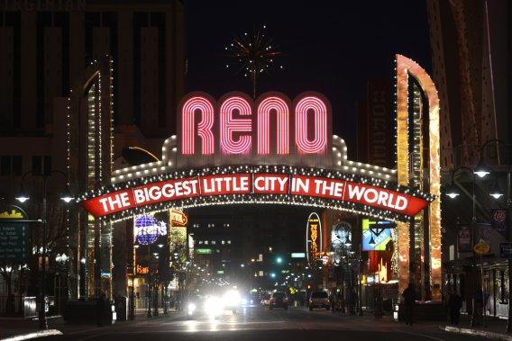 La célèbre arche au coeur de Reno. (Photo Bernard Brault, La Presse)