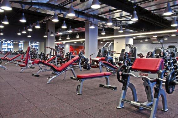Les vastes salles vitrées équipées d'appareils dernier cri ne sont qu'un des attraits du Hard Candy Fitness Toronto. (Photo fournie par Hard Candy Fitness Toronto)