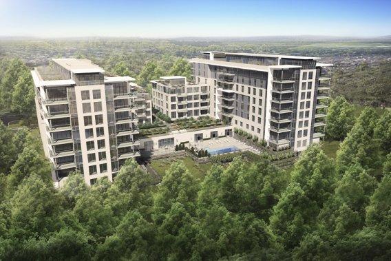Le Monroe sera composé de deux immeubles identiques de quatre et sept étages. Ils seront construits en deux phases. (Illustration fournie par Cosoltec Construction)