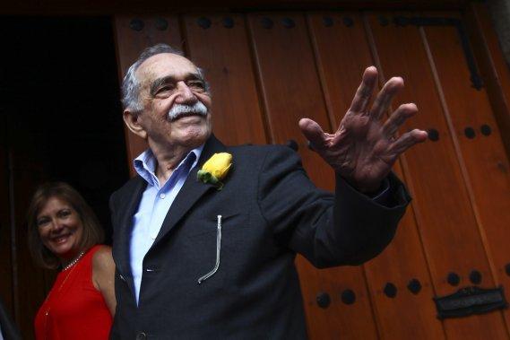 Gabriel García Márquez le 6 mars dernier à l'occasion de son 87e anniversaire. (Photo EDGARD GARRIDO, AFP)