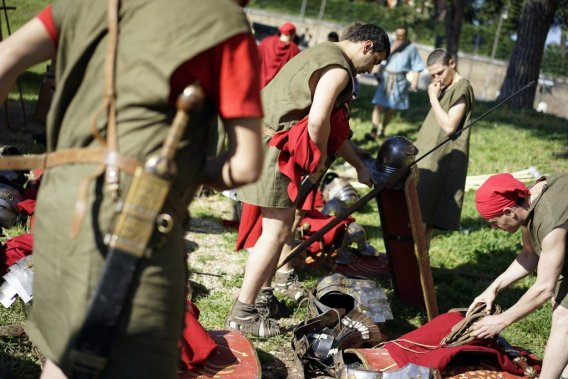 Camp romain au coeur de... Rome. (Photo AP)