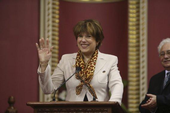 Hélène David, 60 ans  Ministre de la Culture et des Communications et ministre responsable de la Protection et de la Promotion de la langue française (Martin Chamberland, La Presse)