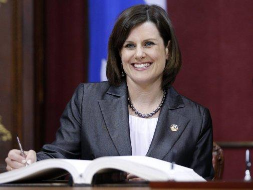Stéphanie Vallée, 42 ans  Ministre de la Justice et responsable de la Condition féminine (Reuters)