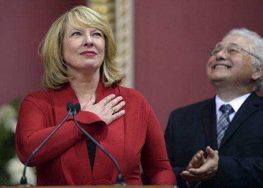 Christine St-Pierre, 60 ans  Ministre des Relations internationales et de la Francophonie (Erick Labbe Le Soleil)