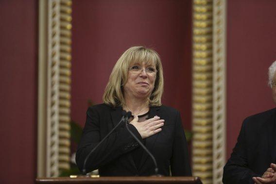 Francine Charbonneau, 52 ans  Ministre de la Famille, ministre responsable des Aînés et de la Lutte contre l'intimidation (Martin Chamberland La Presse)