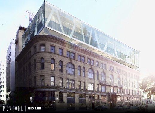 À découvrir: comment le Groupe Montoni pourrait transformer la Maison Birks, au centre-ville de Montréal. (Illustration fournie par le Groupe Montoni)