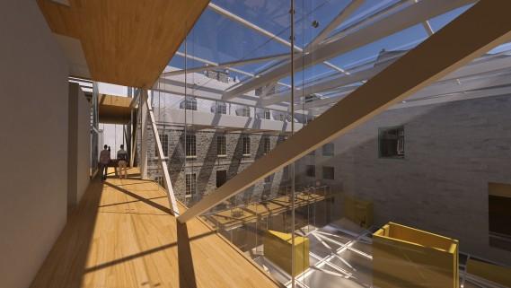 Projet d 39 architecture le mus e de la civilisation agrandi for Projet d architecture