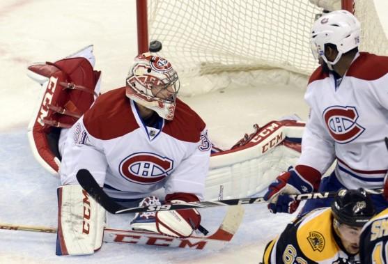 Carey Price (31) a concédé quatre buts aux Bruins, le dernier étant inscrit dans un filet désert. (Photo Bernard Brault, La Presse)