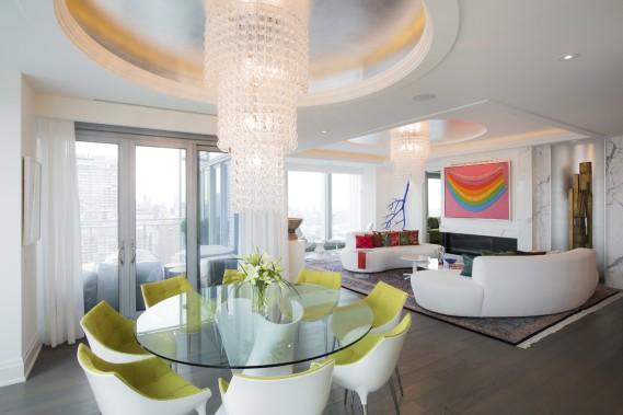Dans le chic complexe hôtelier Four Seasons Toronto, les résidences privées sont aménagées avec soin. Celle-ci, de 2500 pi2, se trouve dans la tour Ouest. (Photo Edouard Plante-Fréchette, La Presse)