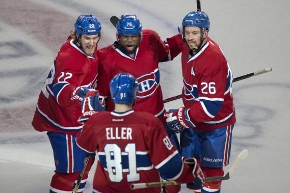 Le Canadien a marqué quatre buts, dont un dans un filet désert, au cours d'un match où les Bruins ont bien failli remonter, une fois encore. (PHOTO ROBERT SKINNER, LA PRESSE)