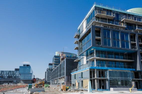 Les immeubles du Canary District visent tous la certification LEED Or. (Photo Edouard Plante-Fréchette, La Presse)