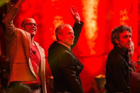 François Morency a rendu un bref hommage au trio les Chick'N Swell, qui se sont séparés cette année. (PHOTO HUGO-SÉBASTIEN AUBERT, LA PRESSE)