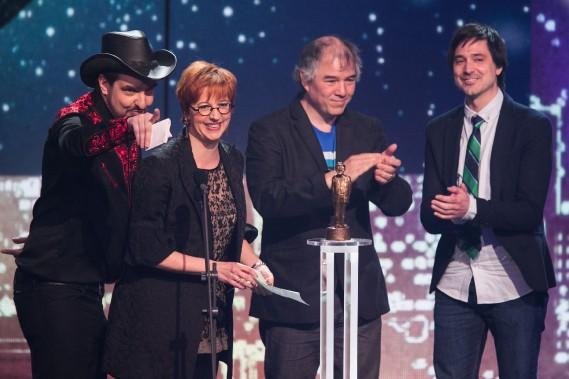 L'équipe d'Infoman a remporté deux prix dans les catégories Spectacle humoristique à la télévision et Série humoristique à la télévision (PHOTO HUGO-SÉBASTIEN AUBERT, LA PRESSE)