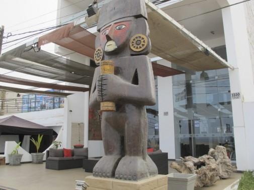 Au Mochican Palace, la culture moche est toujours présente. (Nathaëlle Morissette, La Presse)