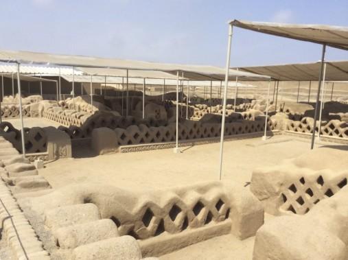 Les ruines de Chan Chan. (Nathaëlle Morissette, La Presse)
