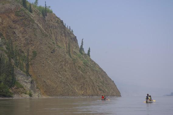 La géologie est souvent intéressante au fil du parcours. (Photo Marie Tison, La Presse)