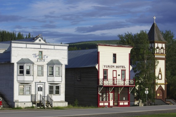 Le but du périple, la petite ville de Dawson City, capitale du Klondike. (Photo Marie Tison, La Presse)