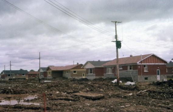 Les membres fondateurs voulaient créer une grande coopérative d'habitation qui construirait  des logements accessibles aux petits revenus. La crise du logement, qui a été extrême et probablement sans parallèle dans l'histoire, était encore aiguë. (Photo fournie par la Bibliothèque de Saint-Léonard)