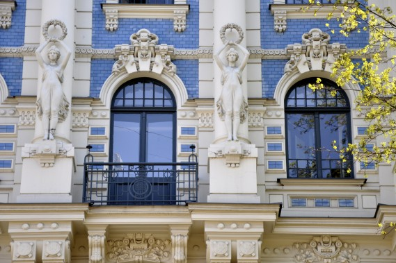 Riga compte plus de 750 bâtiments de style Art nouveau. (Photo Stéphanie Morin, La Presse)
