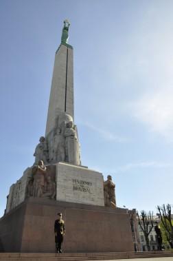 Milda, symbole de l'indépendance de la Lettonie. (Photo Stéphanie Morin, La Presse)