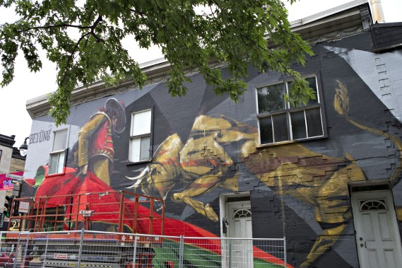 La murale de Bryan Beyung (PHOTO OLIVIER JEAN, LA PRESSE)