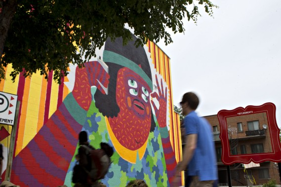 La murale de l'artiste Kashink (PHOTO OLIVIER JEAN, LA PRESSE)