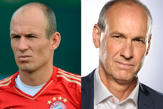 Arjen Robben et Alain Gravel. Suggestion: Denis Levernoche. ()