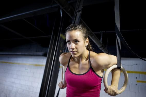 Camille Leblanc-Bazinet à l'entraînement en 2012. (Photo: Marco Campanozzi, La Presse)