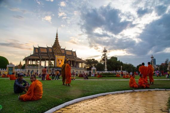 Le Palais royal sert aujourd'hui encore de résidence au roi cambodgien et à sa femme. (PHOTO KIP RADT, COLLABORATION SPÉCIALE)