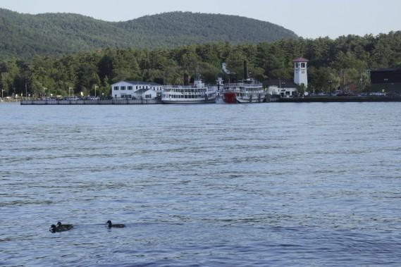 Après une journée en montagnes, le repos nous attends à Lake George. (Photo Guillaume Lefrançois, La Presse)
