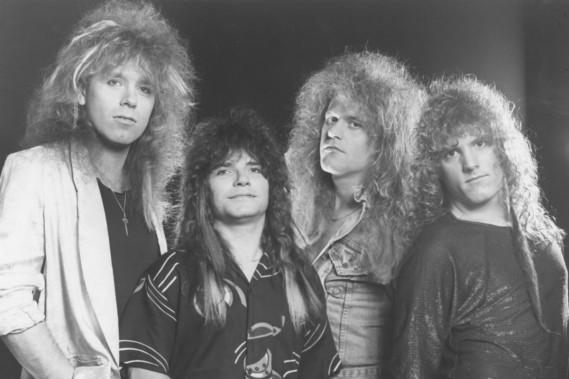 <strong>Kick Axe</strong>: Ils avaient les cheveux, mais pour les vêtements, on est moins sûr. Originaire de la Saskatchewan, Kick Axe a enregistré une poignée de succès dans les années 80, dont <em>On the Road to Rock</em> et <em>Rock the World</em>, deux titres hautement philosophiques. (Photo: fournie par le groupe)
