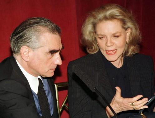 Lors d'une conférence de presse à New York, en 1997, en compagnie de Martin Scorsese. (Reuters)