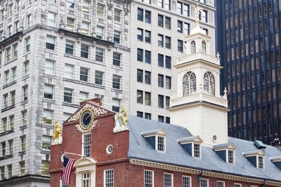 Le Freedom Trail permet de découvrir l'histoire de Boston à travers ses bâtiments, dont le Old State House. (Photo Edouard Plante-Fréchette, La Presse)