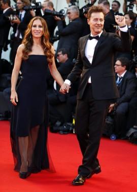 Jour 1 - Mercredi 27 août : Edward Norton et sa femme Shauna Robertson (Photo: Reuters)