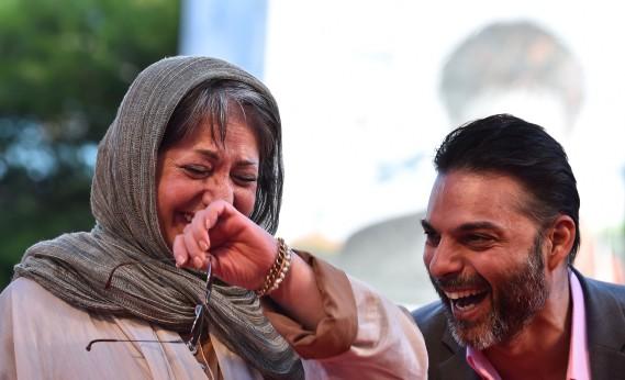 Jour 2 - Jeudi 28 août:Rakhshan Bani-Etemad et Peima Moadi. (Photo AFP)