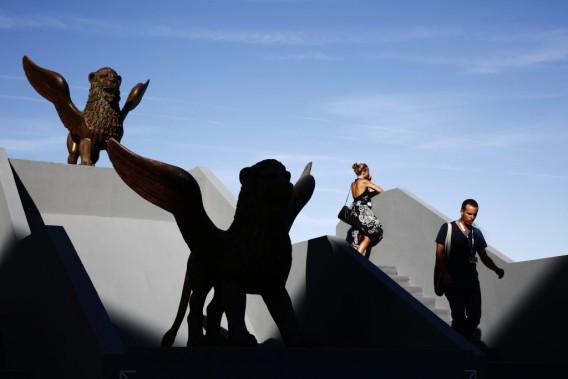 Jour 4 -Les lions de la 71e Mostra de Venise. (Photo David Azia, AP)