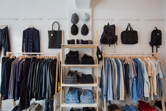 Le magasin est divisé en deux étages, dont un consacré à la mode masculine. (Photo Edouard Plante-Fréchette, La Presse)