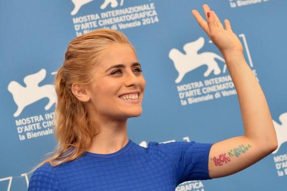 Jour 4 - L'actrice italienne Greta Scarano. (Photo TIZIANA FABI, AFP)