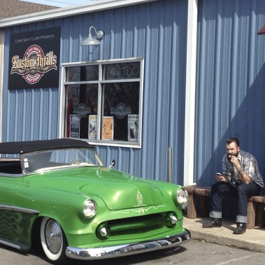 Le studio de tatouage Kustom Thrills, dans East Nashville (PHOTO ÉMILIE CÔTÉ, LA PRESSE)