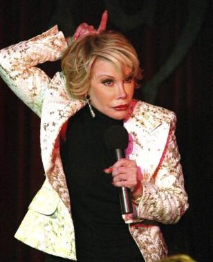 Joan Rivers lors d'une prestation dans un cabaret de Manhattan. (Photo: archives The New York Times)