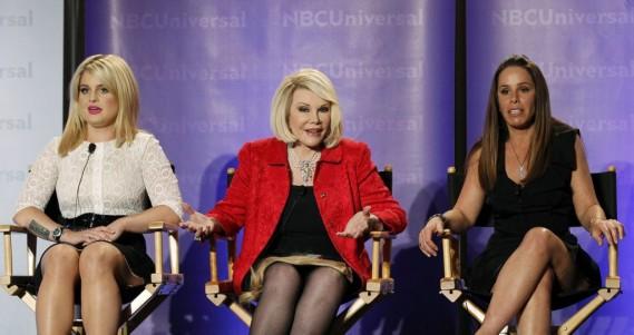 Melissa Rivers, Joan Rivers et Kelly Osbourne sur le plateau de <em>Fashion Police</em>. (Photo: Reuters)