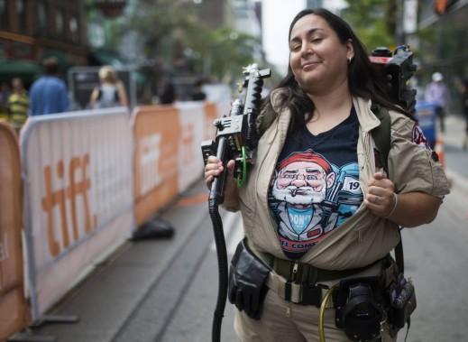 Jour 2 - Adriana Munoz, déguisée en «Ghostbusters», à l'occasion du «Bill Murray Day». (Photo: Reuters)