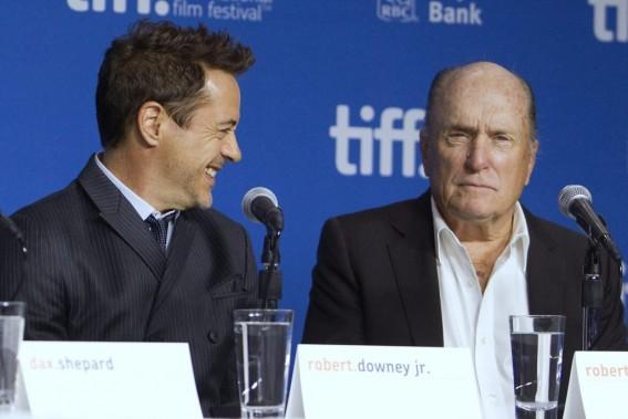 Jour 2 - Les acteurs Robert Downey Jr. et Robert Duvall parlent du film <em>The Judge</em>. (Photo: Reuters)