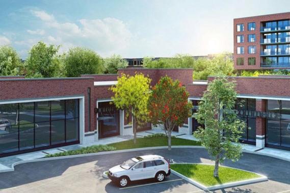 Afin de créer un milieu de vie animé, des habitations seront intégrées dans un centre commercial et plusieurs terrasses seront aménagées. (ILLUSTRATION FOURNIE PAR L'ARRONDISSEMENT DE SAINT-LAURENT)