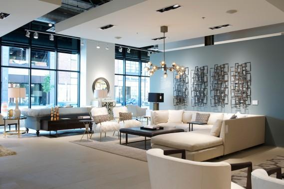 Récemment inaugurée dans le quartier Griffintown, la Boutique Signature est la première enseigne au Québec de la marque américaine de meubles Mitchell Gold + Bob Williams. (PHOTO LEONA MOZES, FOURNIE PAR MITCHELL GOLD + BOB WILLIAMS MONTRÉAL)