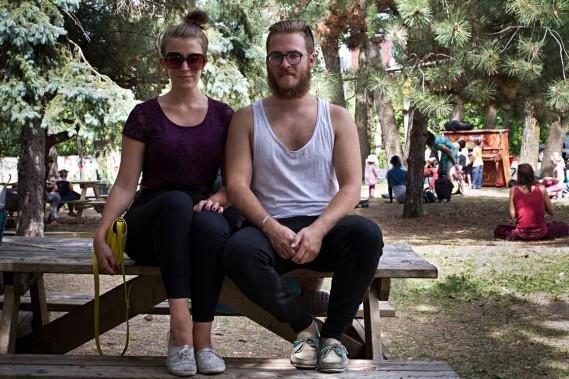 Ariane Beaudry et Francis Malo. Artistes. <em>Hipsters</em>... Non, néo-<em>hipsters</em>. (Photo Alain Décarie, La Presse)