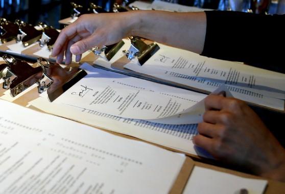Le menu du bar à vin Soif. (Patrick Woodbury, LeDroit)