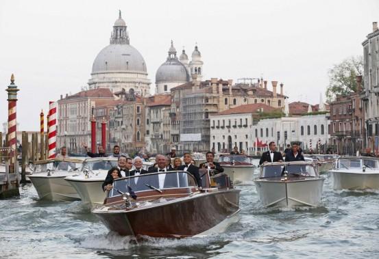 La liste des invités pour ce mariage très attendu ce week-end à Venise comporte de nombreux noms célèbres. (Photo ALESSANDRO BIANCHI, Reuters)
