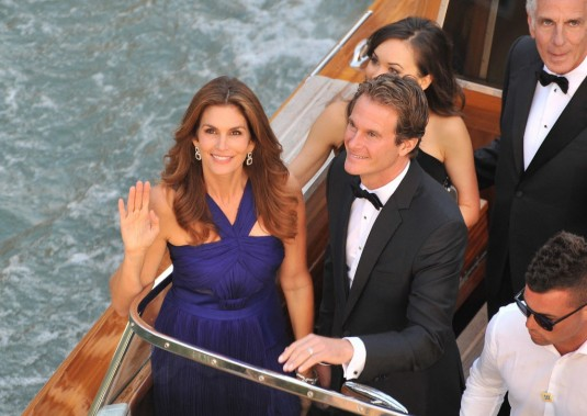 Cindy Crawford et Rande Gerber (Photo Luigi Costantini, AFP)